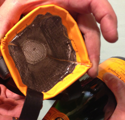 Inside of Veuve Clicquot Carry On Wine bag