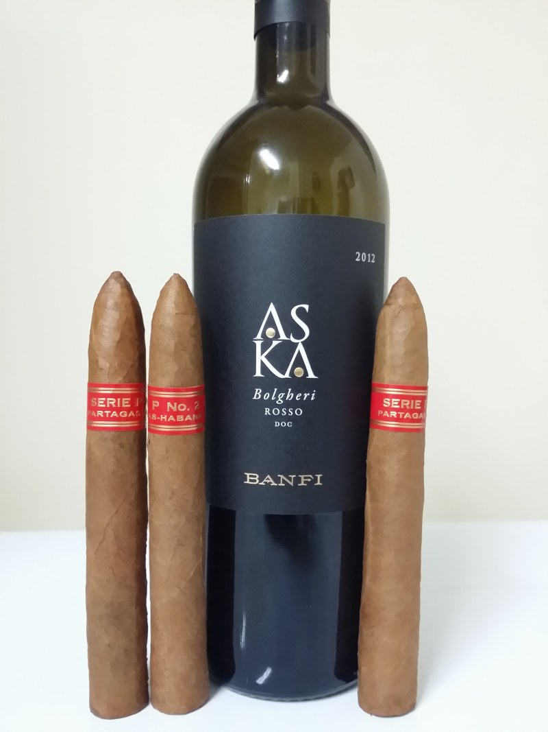 Banfi Wines ASKA with cigars