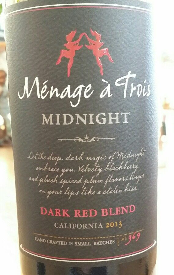 menage a trois midnight red wine