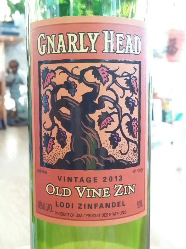 Gnarly head 2013 Old Vine Zinfandel.