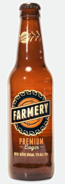 Farmery premium lager beer. Canada