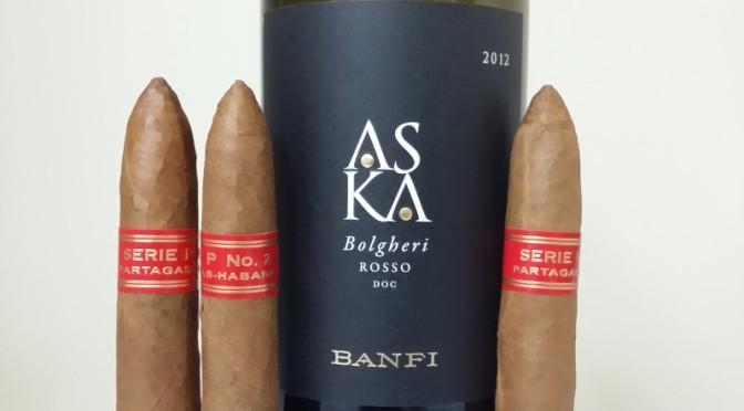 Banfi Wines ASKA with cigars
